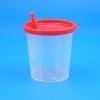 Urinbecher 125 ml mit rotem Deckel (100 Stück)