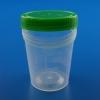 Urinbecher mit grünem Schraubdeckel unsteril 125 ml (100 Stück)
