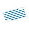 Mediloops maxi blau 2,5 x 1,2 mm (2 x 10 Stück) (Gefäß-Schlingen)