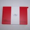 Kontrollkarten rot DIN A 5 Cedip CD 108100 (50 Stück)