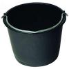 Eimer mit Metallbügel schwarz, 10 l