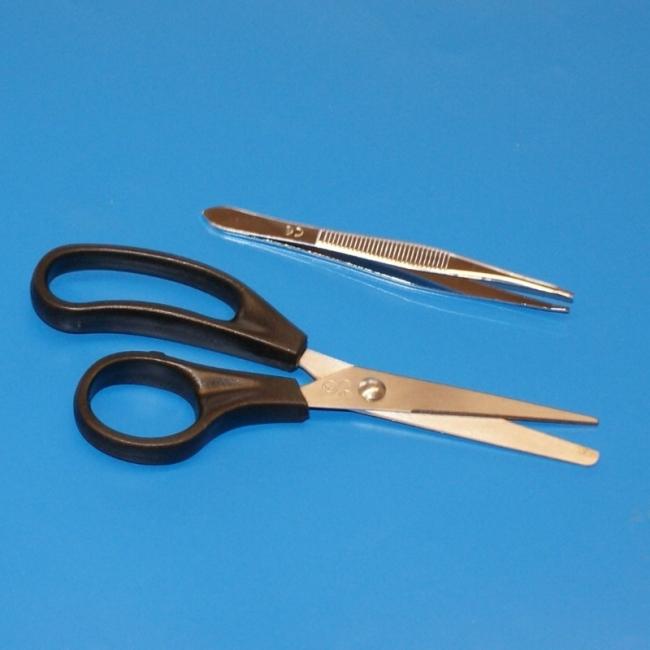 Set Schere-Pinzette steril (25 Stück)