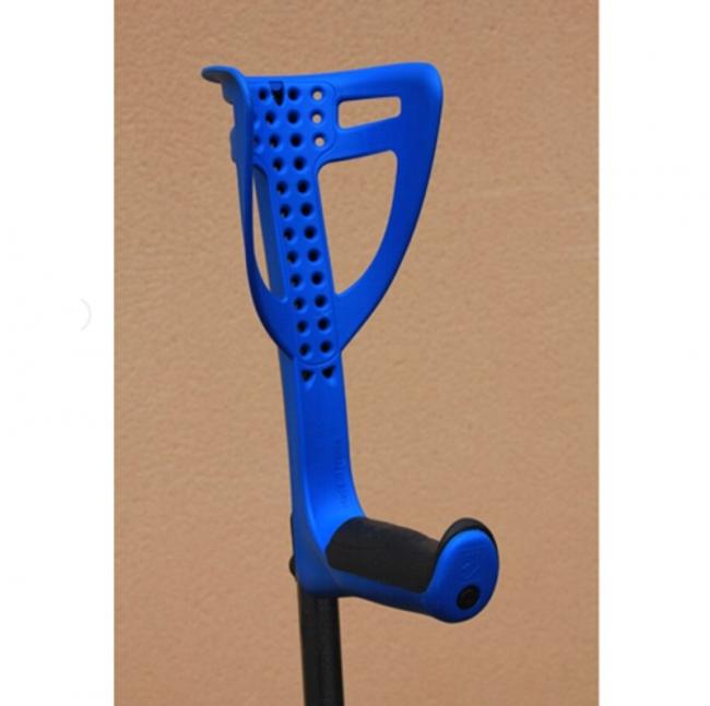 Gehstützen Comfort blau mit Soft-Handgriff